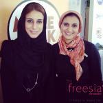 أميرة بنت كرم رئيسة جمعية - أصدقاء مرضى السرطان - مع مديرة التحرير التنفيذية لفريزيا بدبي داليا منصور