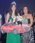 Miss Egypt 2014 Lara Debbane receiving her gift from Mazda Misr - Ghabbour Auto