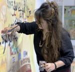 """التشكيلية """"رانيا حامد"""" صغيرة في سنها عظيمة في فنها"""