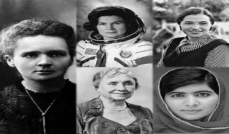 Marie Curie,  Valentina Tereshkova, Helen Keller, Malala Yousafzai